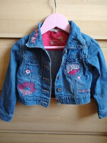 Katanka katana kurtka jeansowa dla dziewczynki 98 Boho hafty Zara