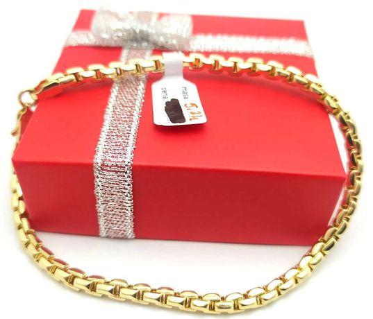 Złota bransoletka p.585 5,24g LOM95