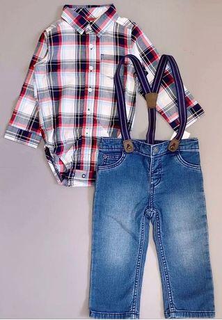 Костюм рубашка, джинсы на мальчика