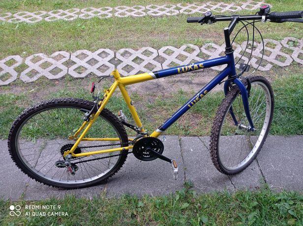 Rower 26 niebiesko żółty