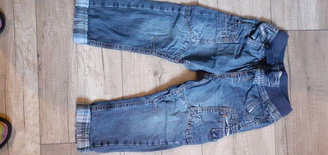 Spodnie jensowe z podszewką