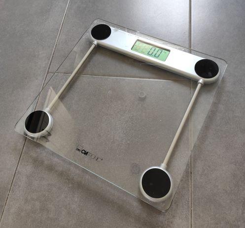 Szklana waga elektroniczna łazienkowa Clatronic