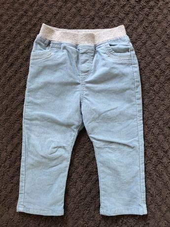 Spodnie chłopięce sztruksowe sztruksy Obaibi 80 cm, 18 m, niebieskie