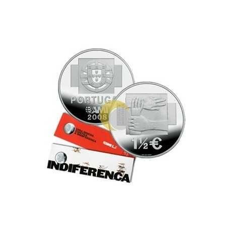 Moeda em prata comemorativa 1,5€ AMI 2008