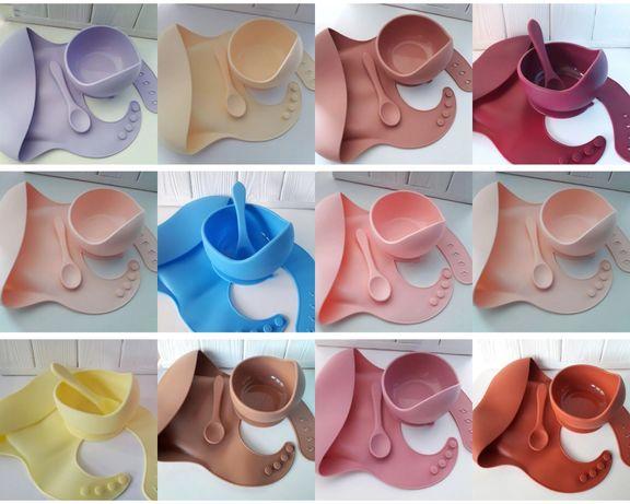 Наборчики силіконового посуду. Всі кольори в наявності. Силиконовая