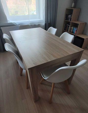 Stół (rozkładany) z krzesłami 6 sztuk - komplet