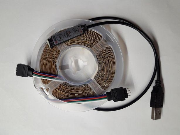 Taśma LED do akwarium monitor 5m rgb USB + Kontroler Sterownik