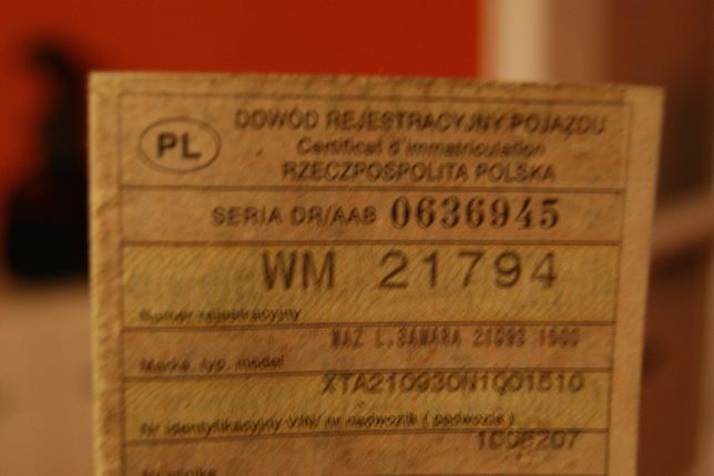 Waz Łada Samara *Rok 1992*Silnik1499