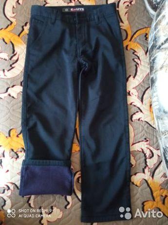 Теплые брюки на флисе.