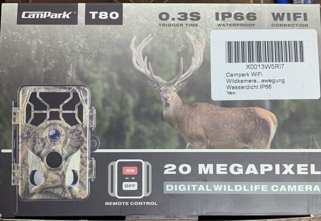 Kamera leśna myśliwska noktowizyjna fotopułapka Campark T80 WiFi 20MP