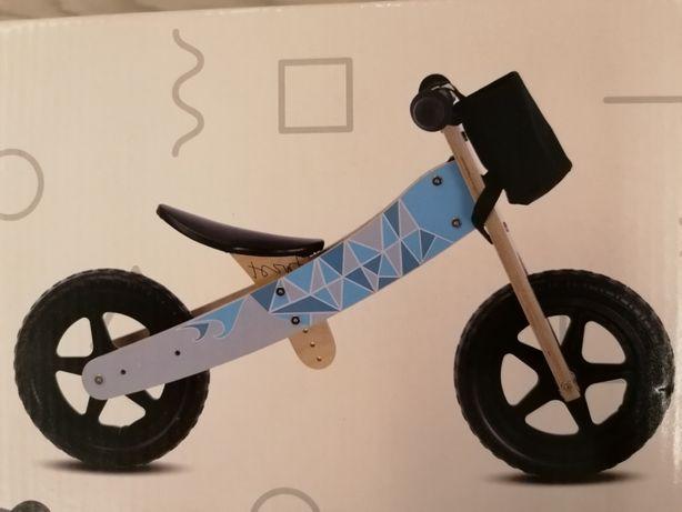 Rowerek drewniany 2w1 trójkołow SUN BABY NOWY!!! y, biegowy niebieski