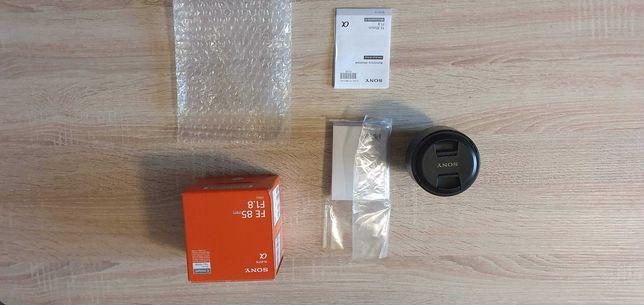 Obiektyw Sony FE 85 mm f/1,8 (SEL85F18F), gwarancja 11.2021
