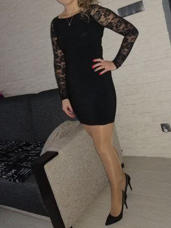 Sukienka xs s mini czarna krótka vubu