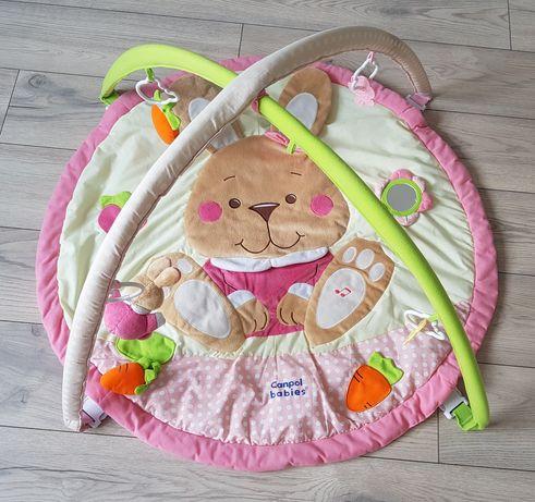 Mata edukacyjna Canpol Babies dziewczynka króliczek grająca różowa
