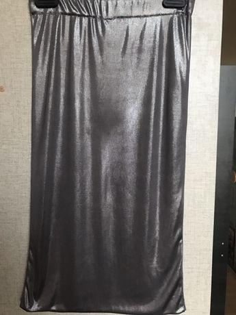 Spódnica srebrna HM