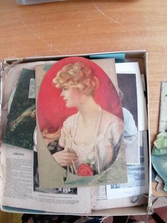Caixa com estampas antigas femininas