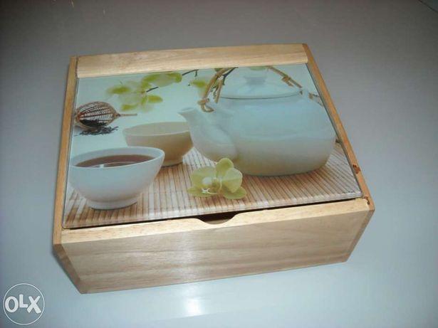 Caixa contemporânea de chá - Nova
