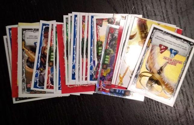 Karty karty LEGO Ninjago TCG seria 4 łowcy smoków 100 sztuk różnych