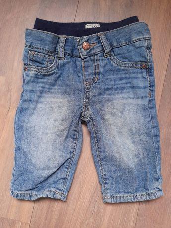 Spodnie jeansy 3-6 m-cy 62 68