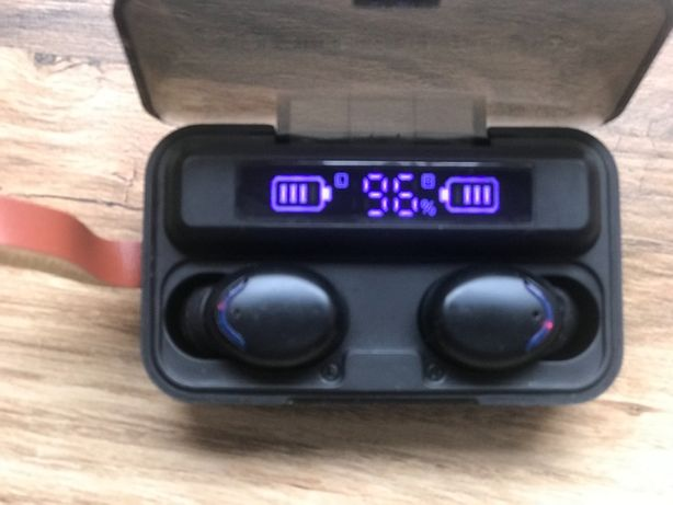 Słuchawki bezprzewodowe TWS Bluetooth 5,0 Powerbank 2200Ah Nowe Tanio!