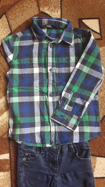 Рубашка в клетку Джордж 92_98