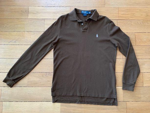 Polo Ralph Lauren поло коричневая тенниска кофта с длинным рукавом M
