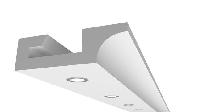 Sufit halogenowy z łukiem - Punktowy / Halogenowy GHO1 60x200mm