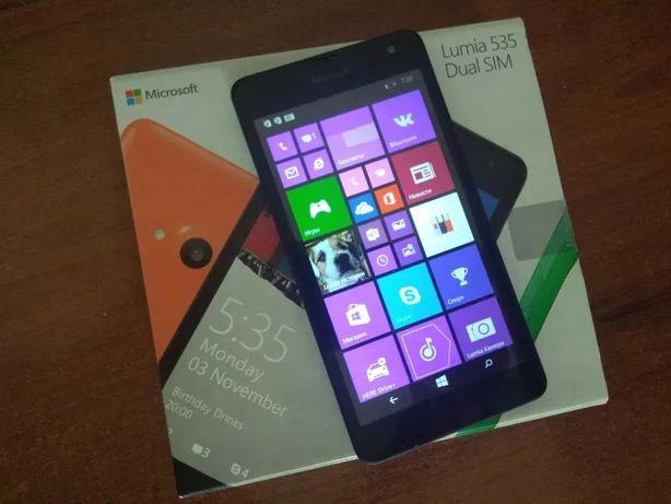 Телефон-сматфон Microsoft Lumia 535 Dual SIM + MicroSD 32 Gb+документ