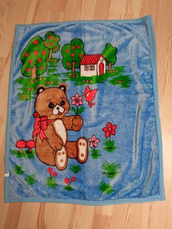 Теплое детское покрывало/плед/одеяло