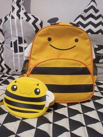 plecak, pszczoła, saszetka, nerka, zestaw ,plecaczek