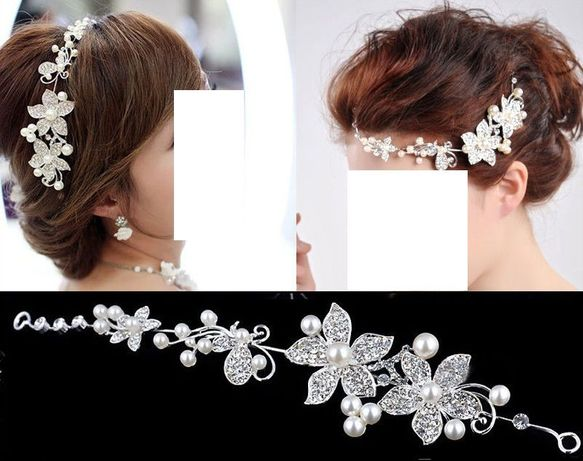 Spinka (stroik), tiara, ozdoba do koka,włosów - biżuteria ślubna