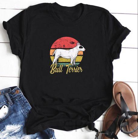 Koszulka t-shirt pies bullterier owczarek mops corgi husky