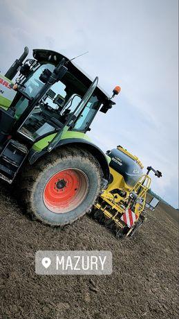 Uslugi rolnicze siew uprawa koszenie zboz