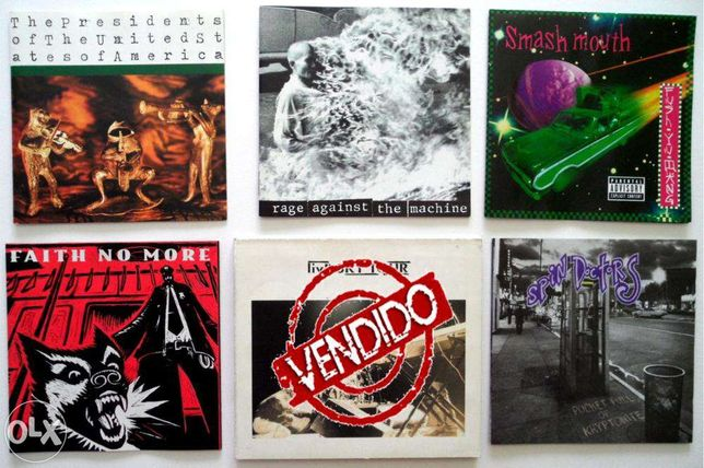 CD'S Faith No More, Rage Against Machine, Spin Doctors, Presidents USA