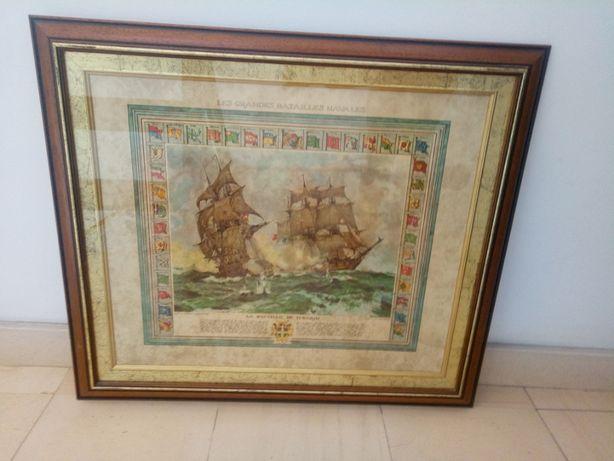 Vendo quadro Grandes Batalhas Navais