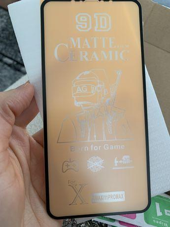 szkło matowe na telefon iphone xs max