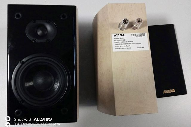 KODA CV52S kolumny,czarny połysk + przewody głośn. 2x2.5. Gwarancja