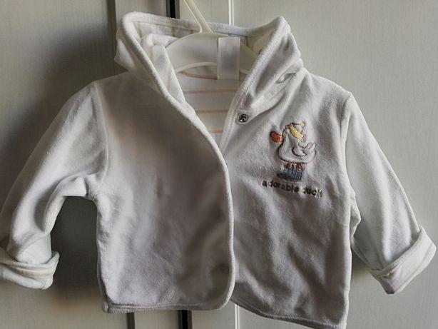 Kurtka bluza Baby Club Roz. 62 68 na wiosnę czapka gratis