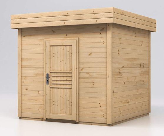 Domek narzędziowy drewniany 2,5x2,5 KRÓTKIE TERMINY Malwa ogrodowy