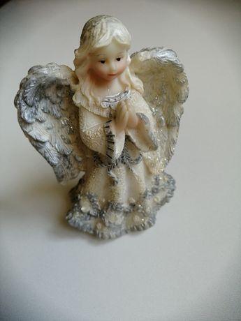 Настольная статуэтка молящий Ангел из полистоуна с бронзовым напылени