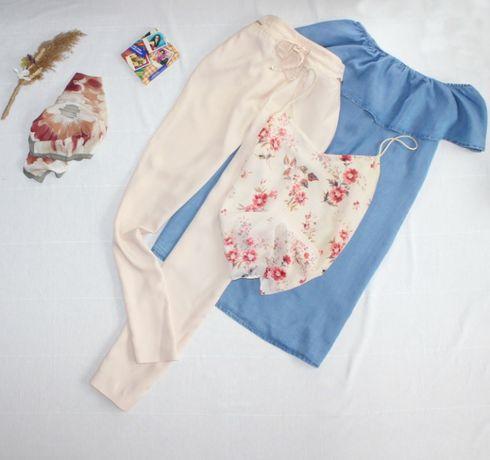 Майка в бельевом стиле , платье рюши трапеция, брюки свободные бомба
