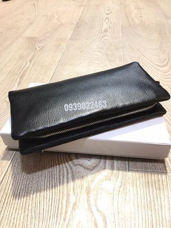 Большой мужской бумажник – клатч и кошелек для купюр и карточек.