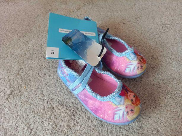Nowe balerinki Kraina Lodu na szczupłą stopę, rozmiar 25. Charytatywna