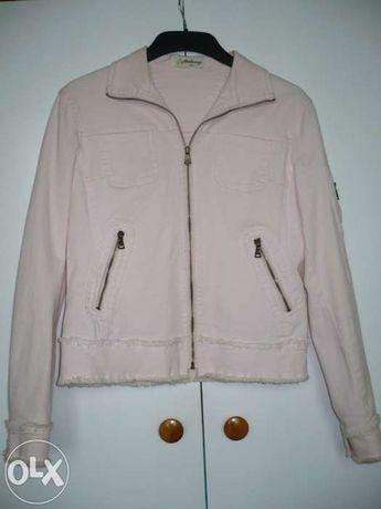 kurtka jeansowa jasny róż L/XL