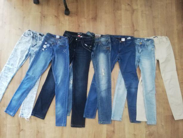 Spodnie jeans 140-146
