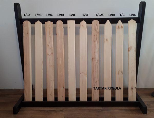 Sztachety Drewniane Ogrodzenie Płot