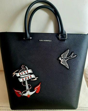 Torebka Karl Lagerfeld czarna A4