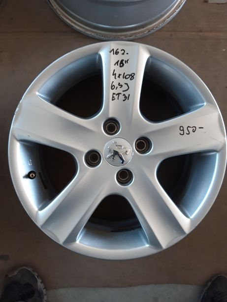 162 Felgi Aluminiowe Alusy ORYGINAŁ PEUGEOT R16 4x108