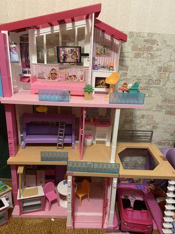 Дом Barbie + машина и кухня, для детских комнат,кафе kids friendly