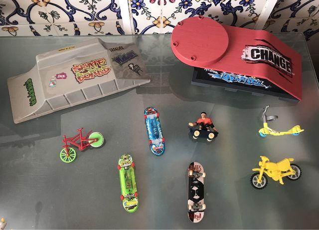 Tony Hawks skater, Skates de dedo Tech Deck, Rampas, Bmx